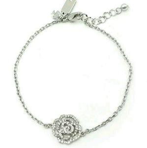 Kate Spade Silver Pave Rose Bracelet W/Dust Bag